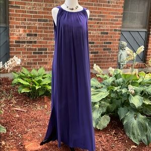MSK Women deep blue maxi dress 1X